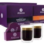 Kaffeevorteil: 384 Kaffeekapseln von Altezza (kompatibel mit Nespresso) + 2 Altezza Gläser und Untersetzer  für 49,99€inkl. Versand