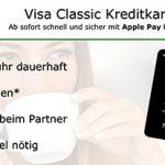 Schwarze VISA-Kreditkarte ohne Jahresgebühr, dauerhaft kostenlos – Apple Pay fähig + 50€ Startguthaben