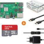 Raspberry Pi 3 3B+ Bundle (Model B+ mit Case + SD + Micro USB Cable + Netzteil) für nur 58,98 inkl. Versand (statt 83,98)