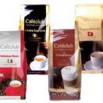 Caféclub Probierpaket – Kaffeebohnen (4 x 1 kg) für 36,73€ inkl. Versand