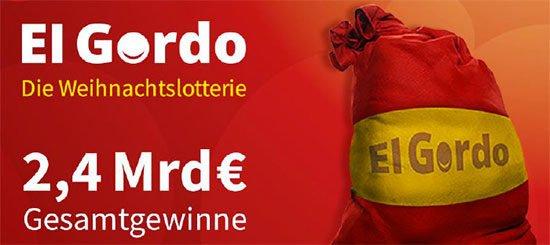 El Gordo Tippen Online Weihnachtslotterie Spanien