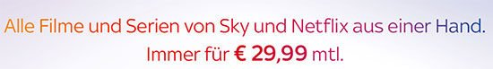 Sky Netflix deal Angebot