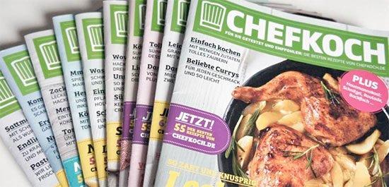 Zeitschrift Chefkoch Angebot Deal Schnäppchen Prämie Gutschein Prämienabo