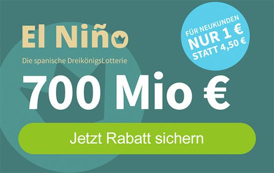 Lotto Spanien El Niño Lotterie Angebot Deal