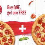 Pizza Hut: 2x Pizzen zum Preis von einer für 1€
