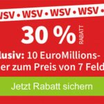 Lottohelden: 30% Rabatt bei Euromillions, 10 Felder für 19,25€ statt 27,50€