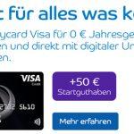 50€ Startguthaben: Dauerhaft beitragsfreie Barclaycard Visa Kreditkarte inkl. gebührenfreiem Geldabheben weltweit