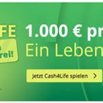 Lottohelden: 50% Rabatt auf Cash4Life (lebenslang 1.000€ jeden Tag!)
