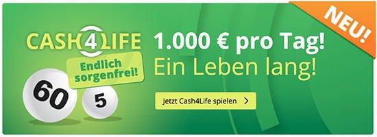Cash4Life Deal Angebot Sparen