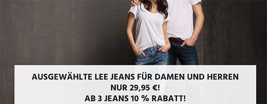 Jeans Sale Lee Angebot Shorts Deal