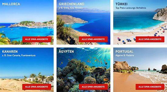 Reise Angebot Deal Pauschalreise sparen