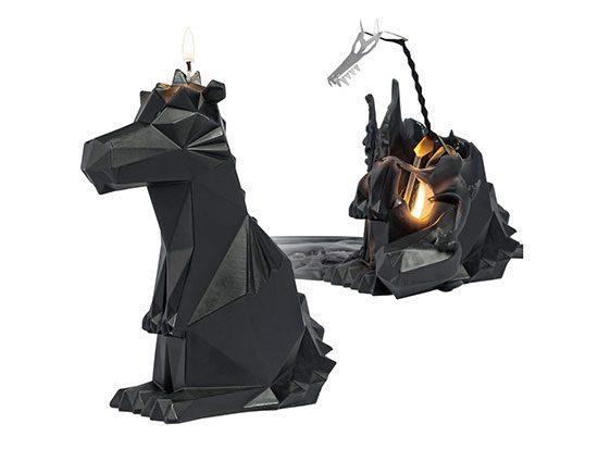 Kerze Skelett Drache Drachenkerze Cool Gadget