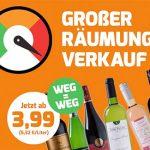 Weinvorteil: Weine ab 3,99€ im Räumungsverkauf