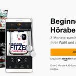 🔥 Audible: 3 Monate mit je 1 Hörbuch nur 4,95€ mtl. statt 9,95€