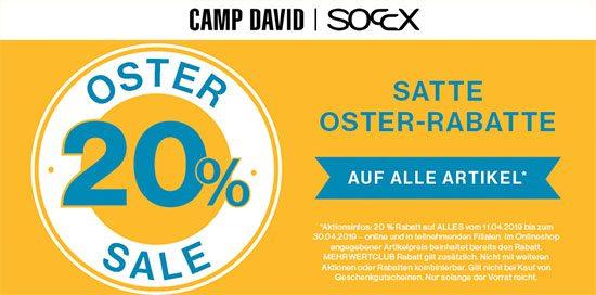 Sale Gutschein Rabatt Camp David Soccx