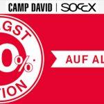 Camp David & Soccx: 30% Rabatt auf alles
