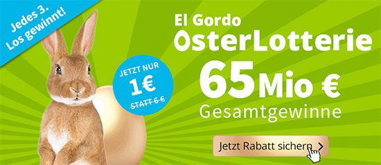 Osterlotterie Lottohelden El Gordo Rabatt