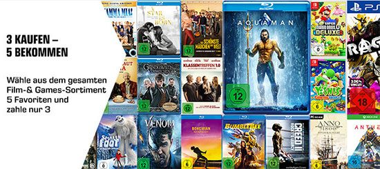 Filme Games Saturn Angebot Deal