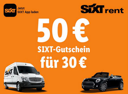 Sixt Gutschein Angebot Deal Sparen