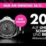 Galeria: 20% Rabatt auf Uhren, Schmuck & Beauty
