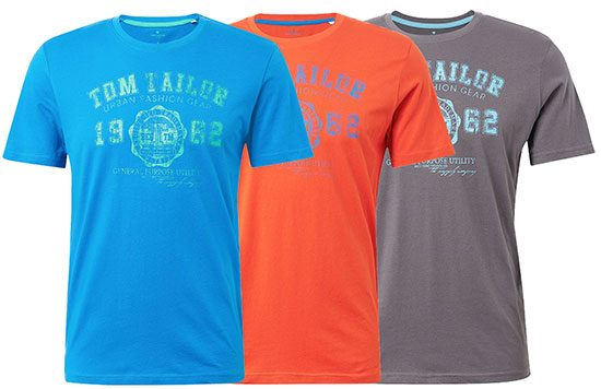 Tom Tailor T-Shirts Deal Angebot Sparen Rabatt