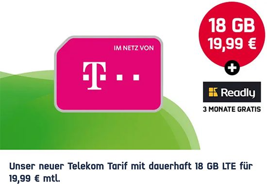 Green LTE DEAL Telekom 18GB