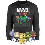 Marvel Christmas Sweatshirt + 5 Funko Pops! für 28,48€ inkl. Versand (statt 79,83€)