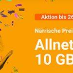 winSIM: 10GB LTE Allnet-Flat für 9,99€ mtl. und monatlich kündbar!