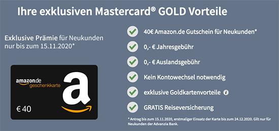 Gutschein Deal Kreditkarte sparen Gutschein