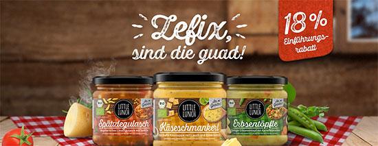 Hüttenschmankerl Little Lunch Suppen Bio Angebot Deal Sparen