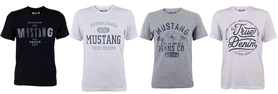Mustang T-Shirts Aktion Deal Sparen Rabatt