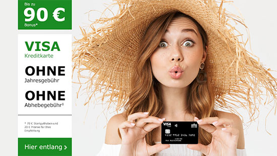 Kreditkarte kostenlos umsonst Deal Angebot
